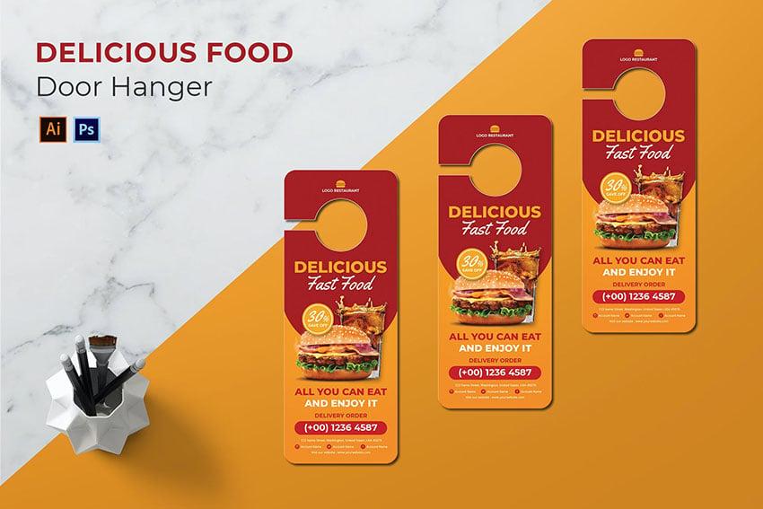 Delicious Food Door Hanger