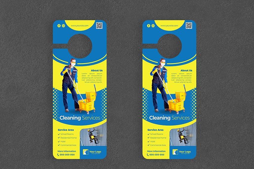 Cleaning Service Door Hanger Creative Promotion