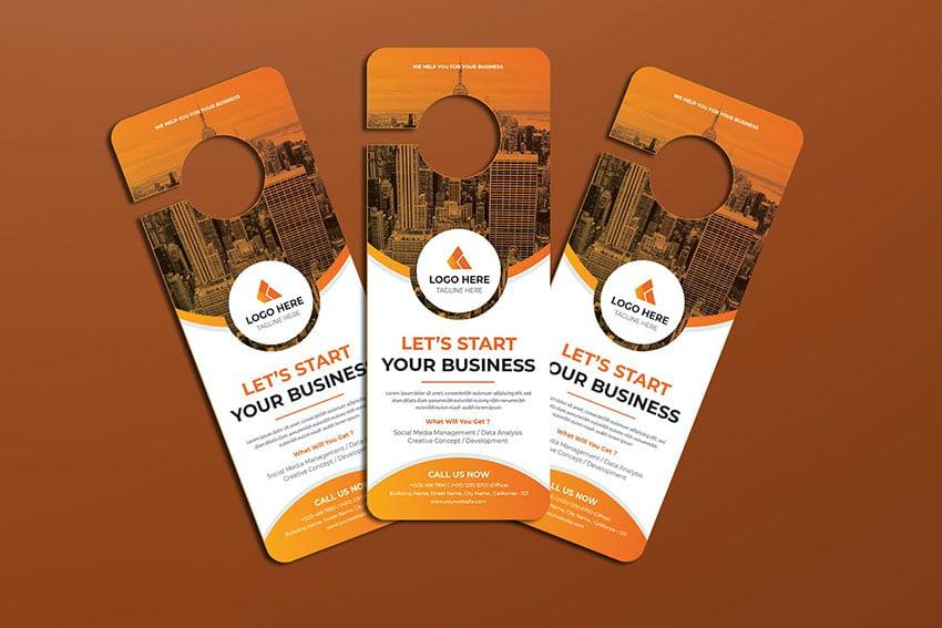 Business Startup Door Hanger