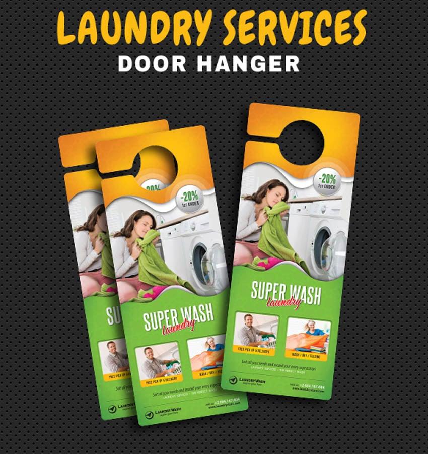 Laundry Services Door Hanger