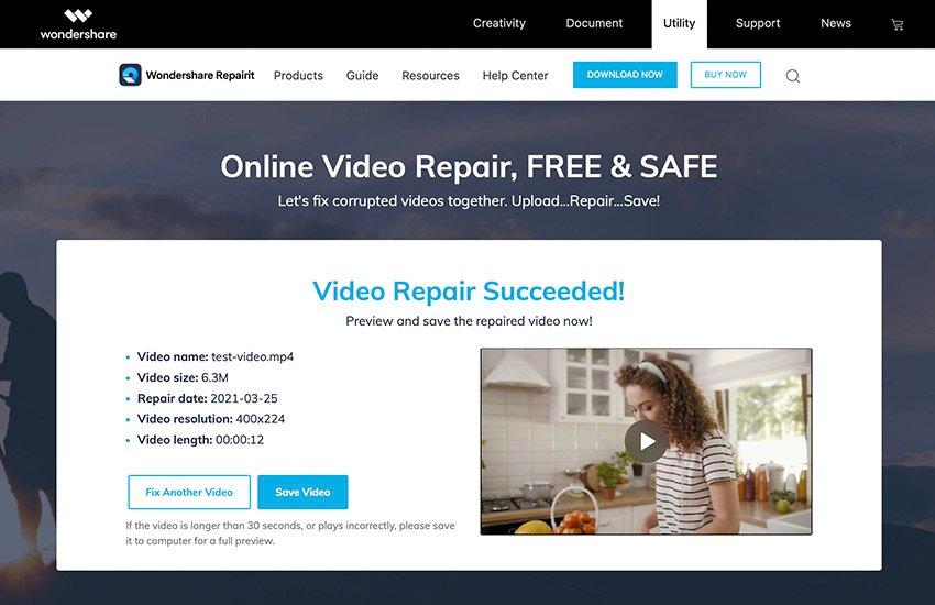 corrupt file recovery Repairit