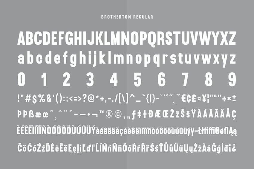 Brotherton Vintage Sans Serif Font Typeface