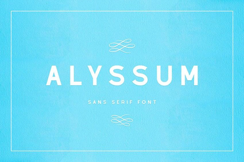 Alyssum - Sans Serif Font