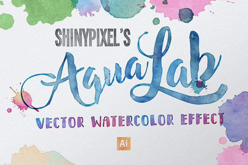 AquaLab - Vector Watercolor Effect