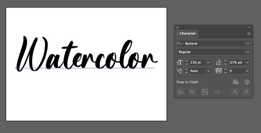 illustrator calligraphy font