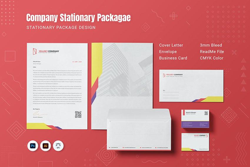 Yelloey Company Stationary