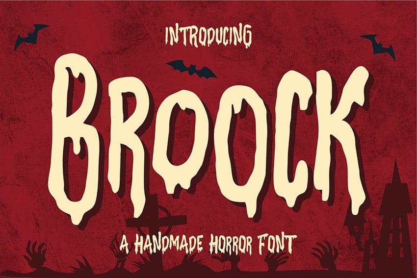 Broock - Handmade Horror Font