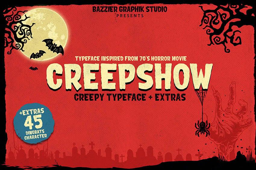 Creepshow- Horror font