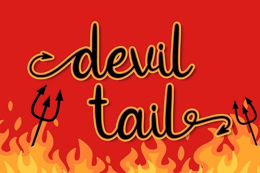 Devil Tail - Halloween Font