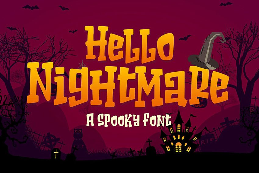 Hello Nightmare a Spooky Font
