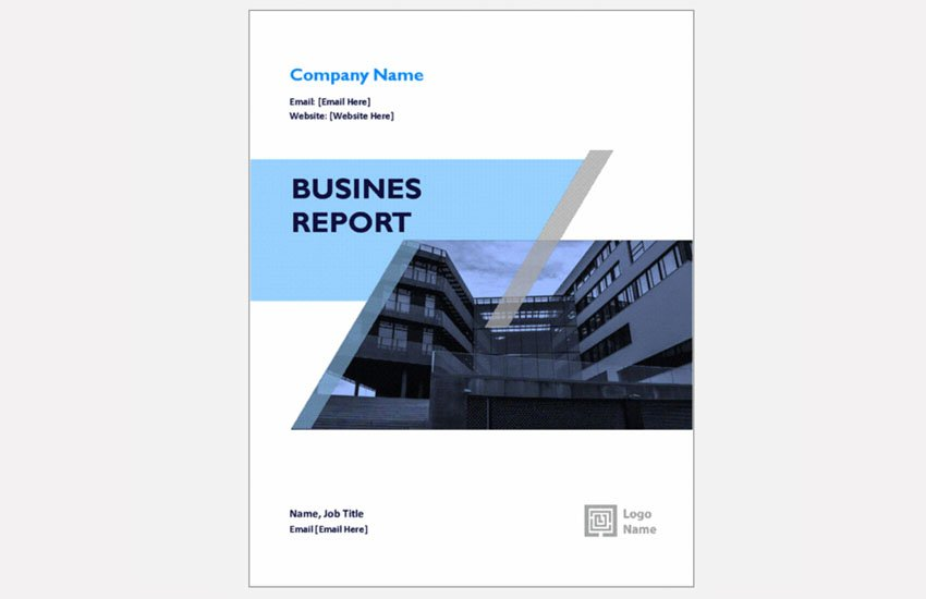 business report free for word