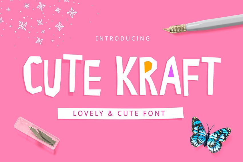 Cute Kraft Fonts