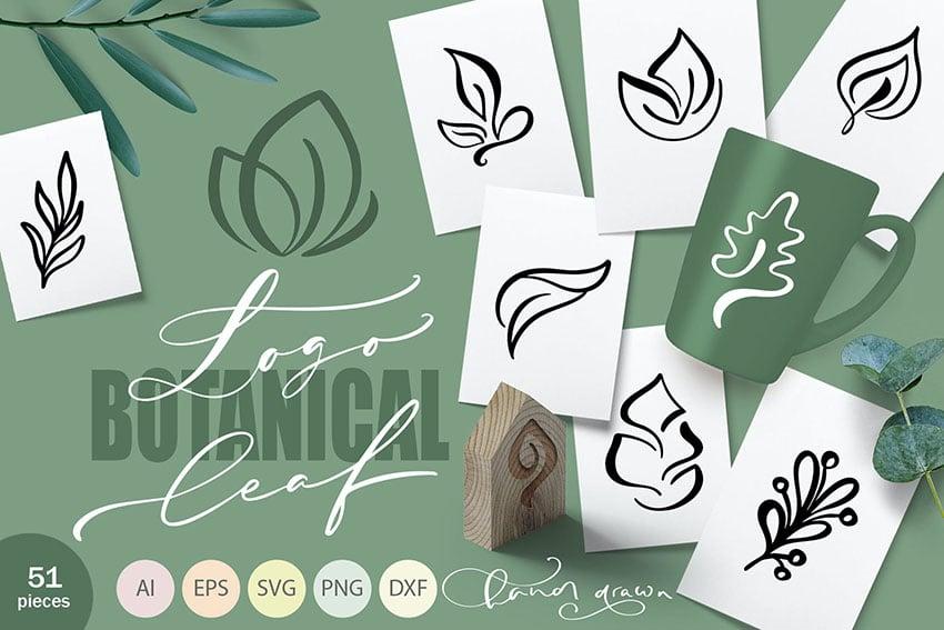 Logo Botanical Leaf SVG