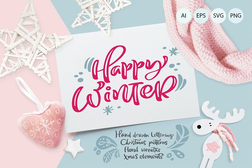 Christmas lettering quotes & design