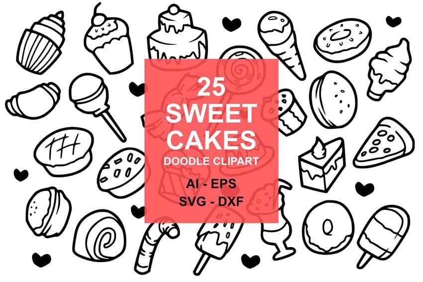25 Sweet Cake Doodles