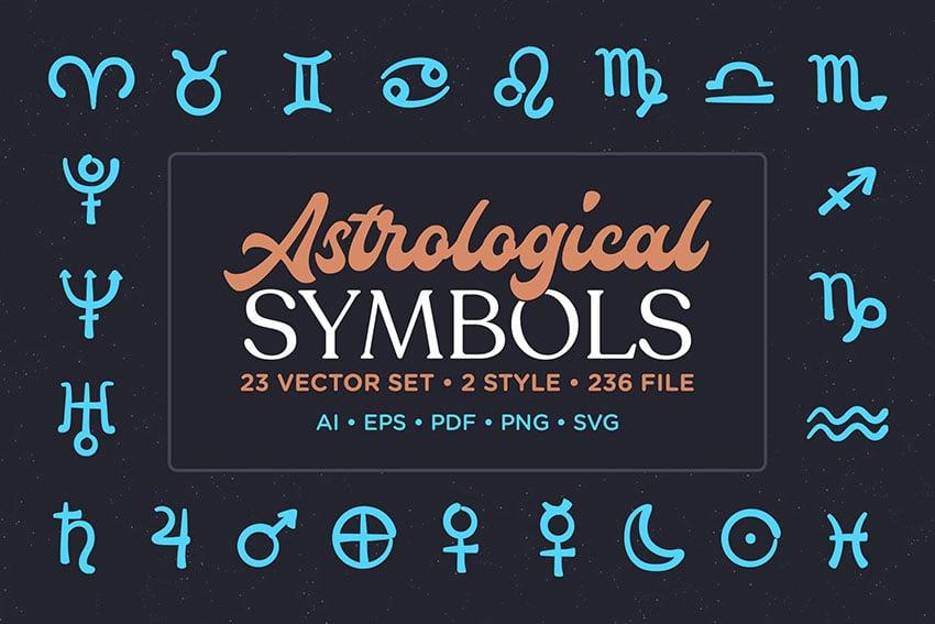 Astrological Symbol Vector Set