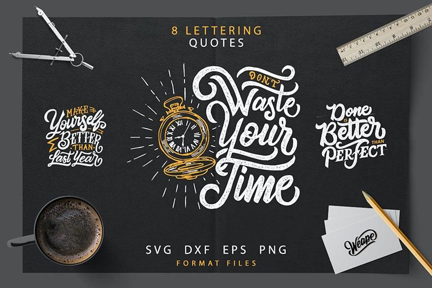 Lettering Motivational Quotes SVG Bundle