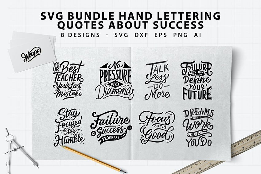 Hand Lettering Quotes About Success