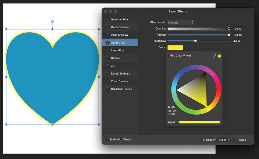 affinity publisher layer effects