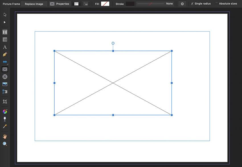 affinity publisher frames