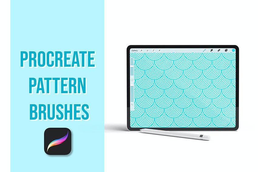 Procreate Pattern Brushes - Circles