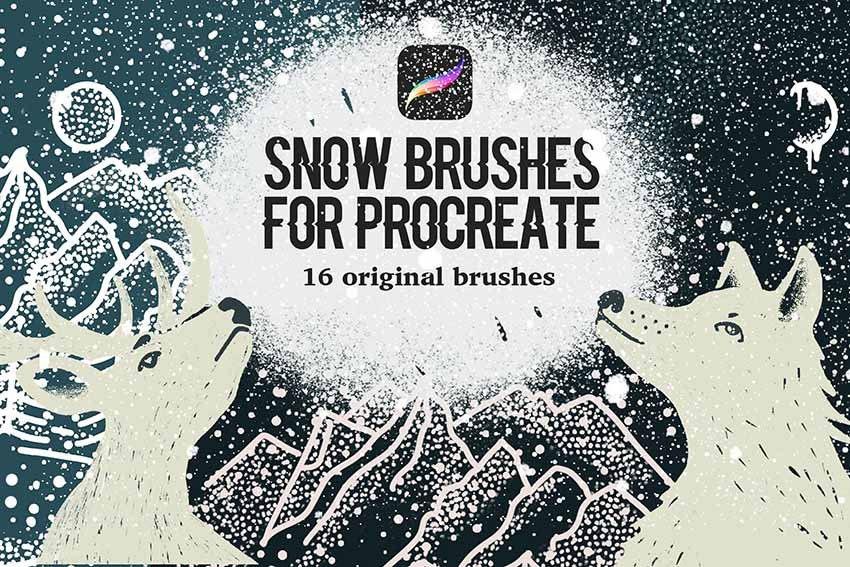 Snow Brushes for Procreate