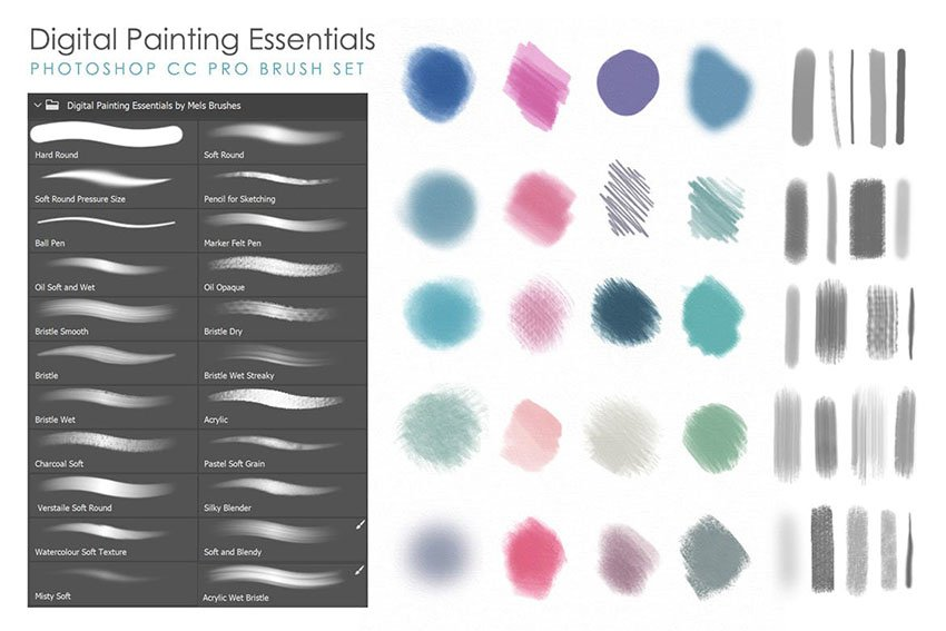 Artistic & Matte Painting Photoshop Brush Set