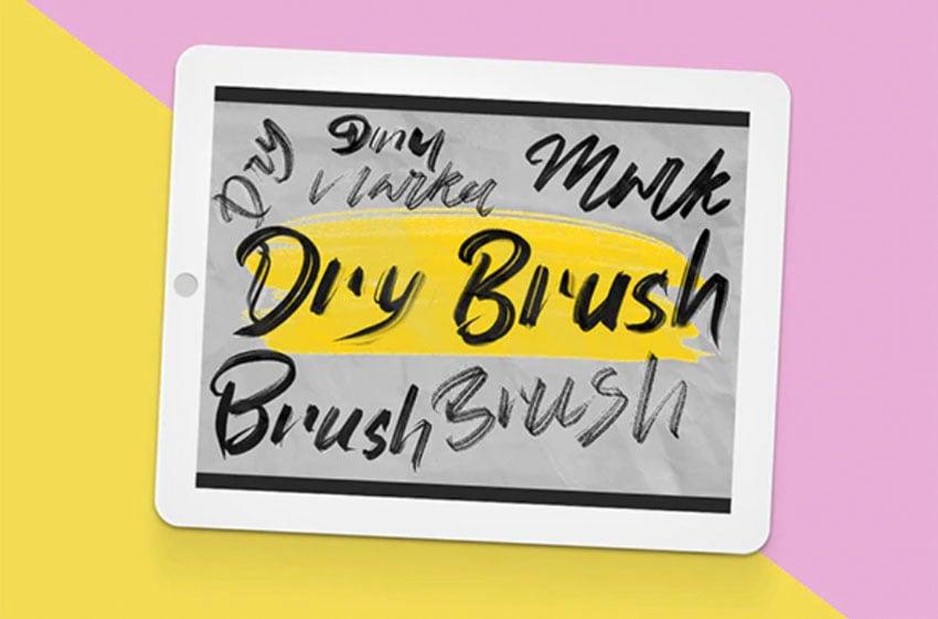 Procreate Dry Marker Brushes