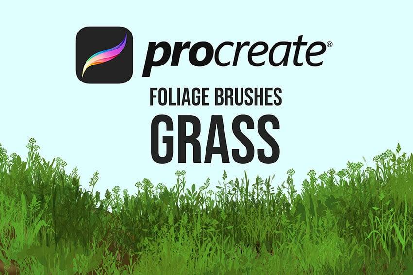 Procreate Foliage Brushes - Grass
