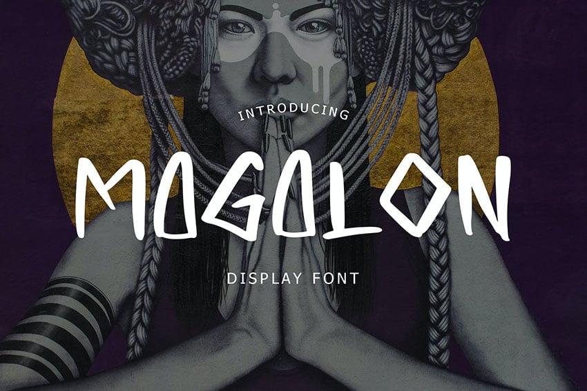 Magalon Unique Display Font