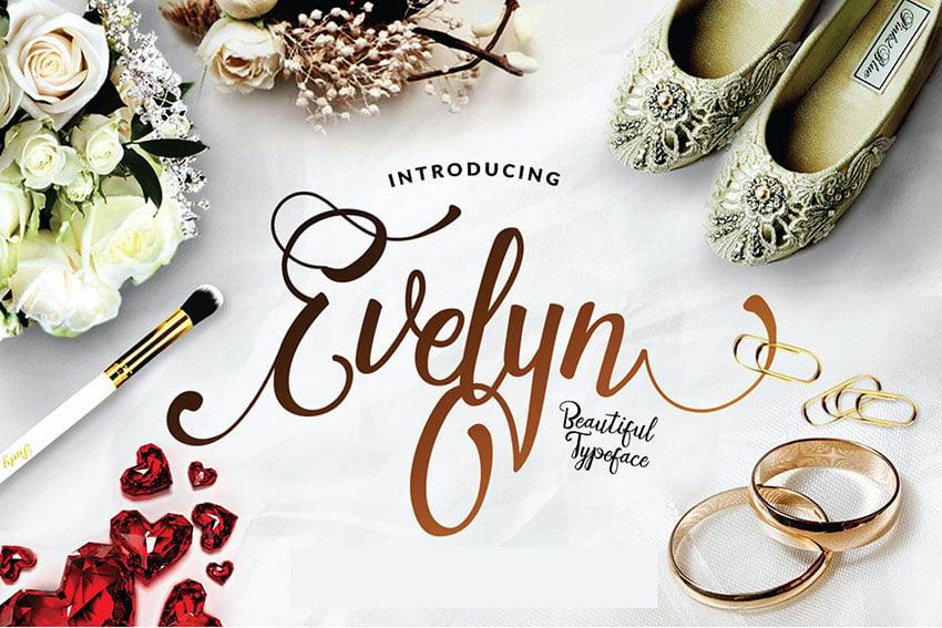 Evelyn - Wedding Script Elegant Luxury