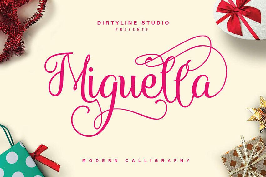 Miguella Script Elegant Wedding Font