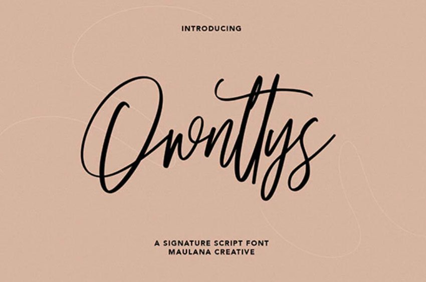 Ownttys Signature Script Font