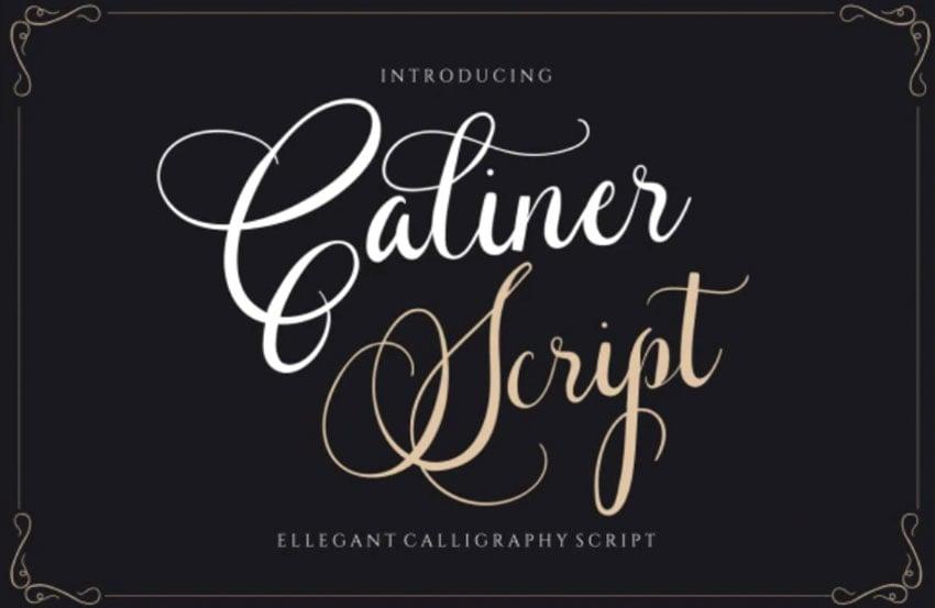 Caliner Script - Wedding Calligraphy