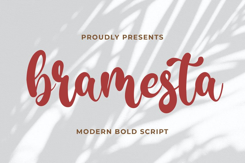 Bramesta - Modern Bold Script