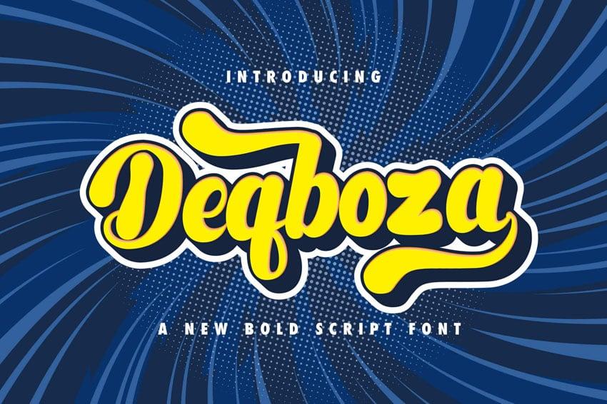 Deqboza - Retro Bold Script Font