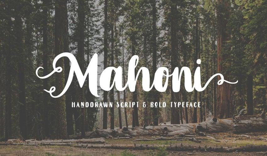 Mahoni - Script & Bold