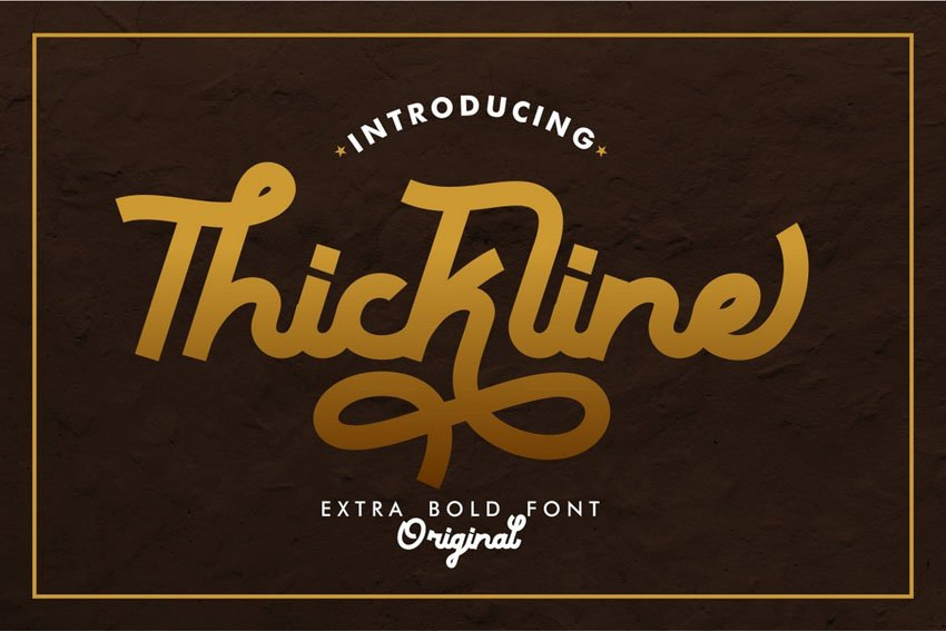Thickline - Classic Bold Font