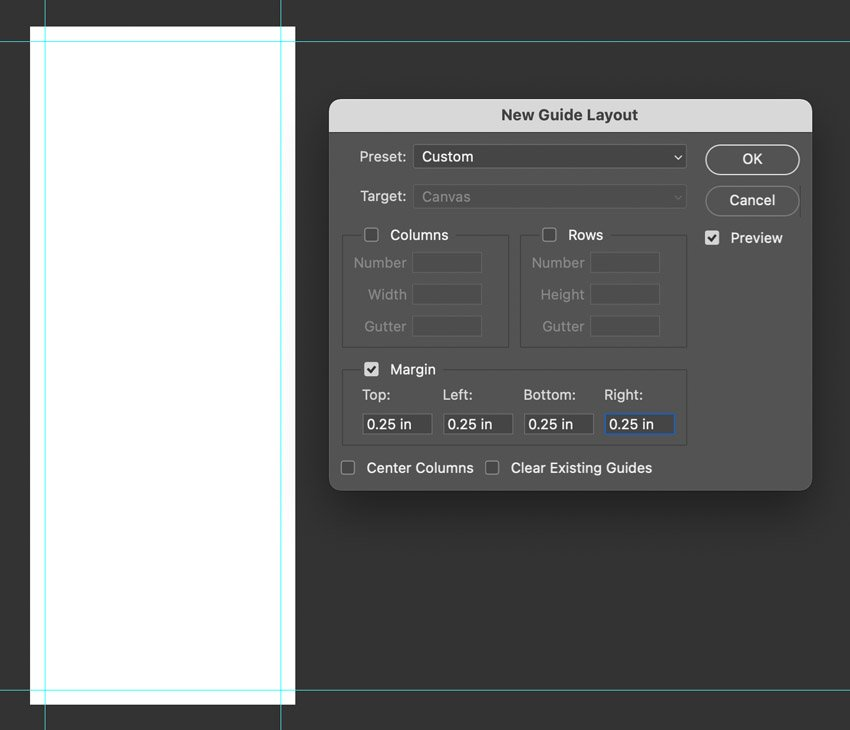 photoshop guide layout