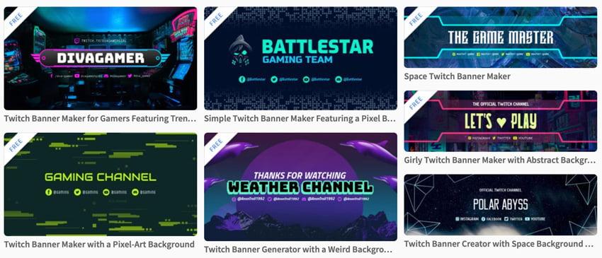 custom twitch banners