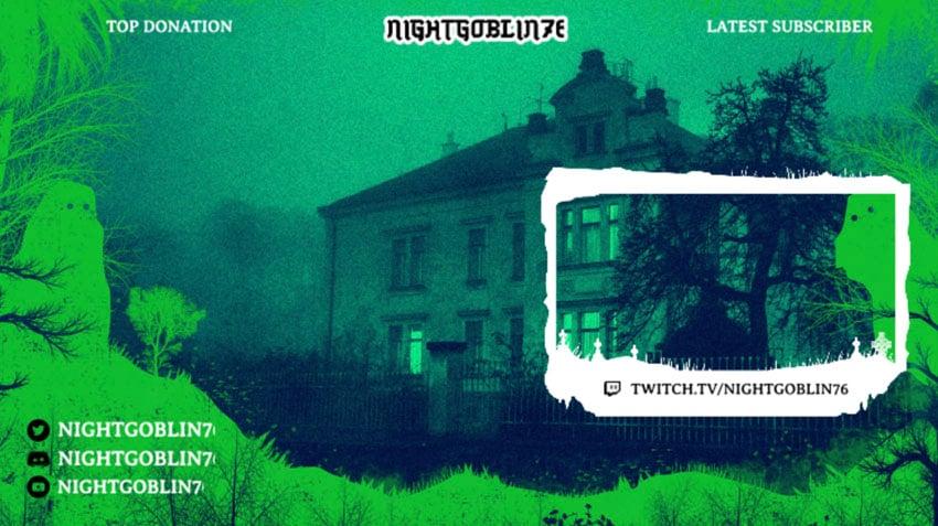 horror twitch theme overlay