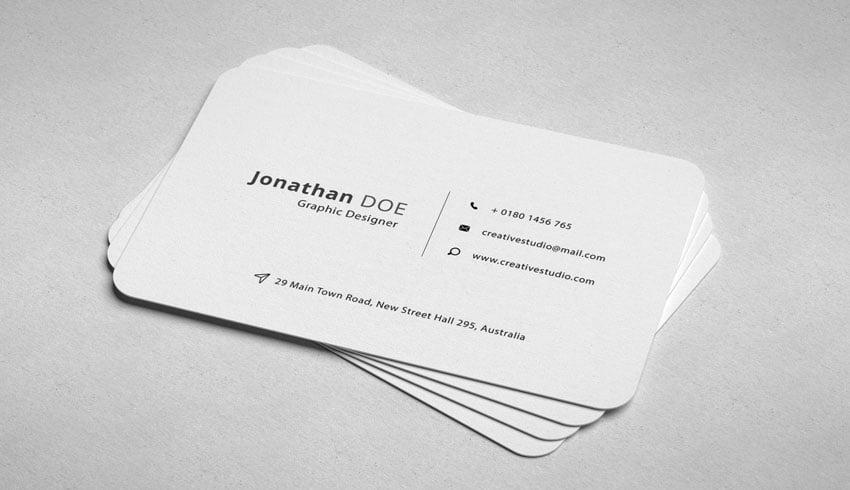 die cut business card template