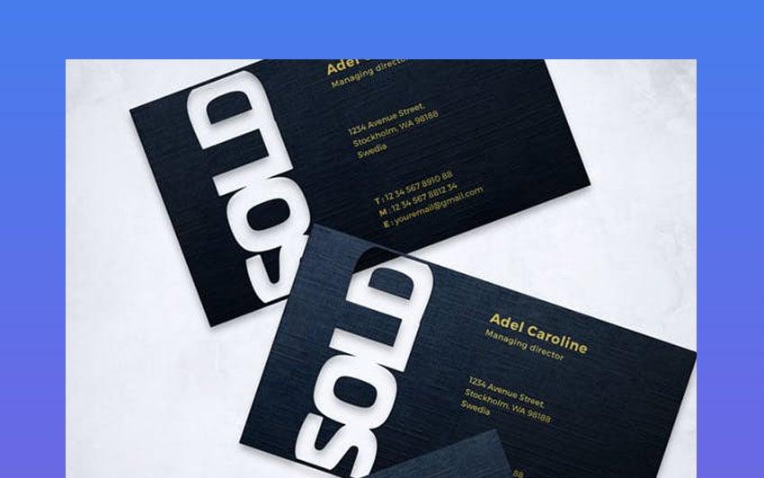 die cut business card mockup