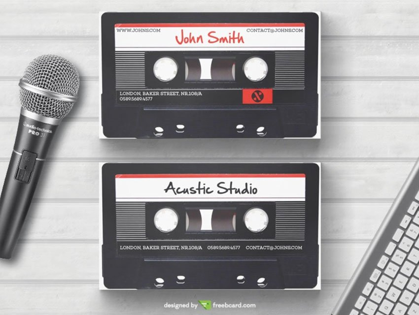 free cassette business card