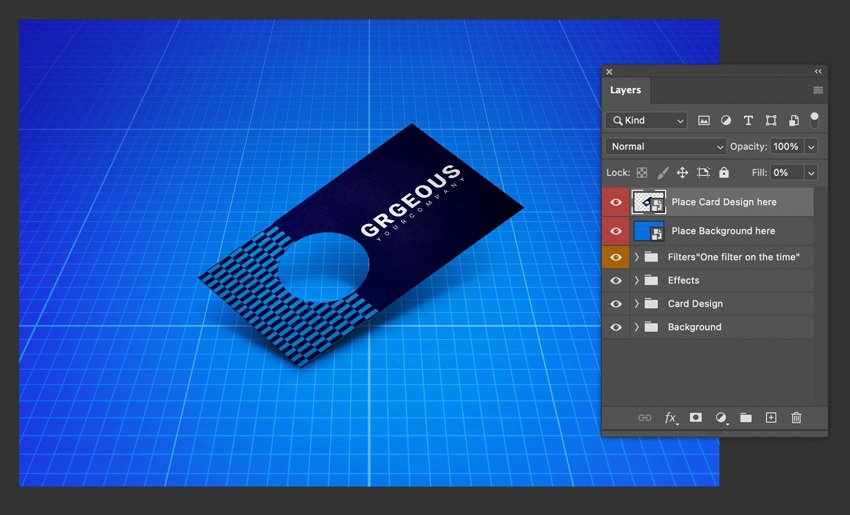 custom business card die cut