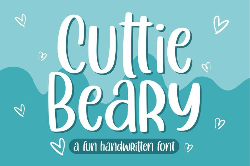Cuttie Beary - Cute and Fun Handdrawn