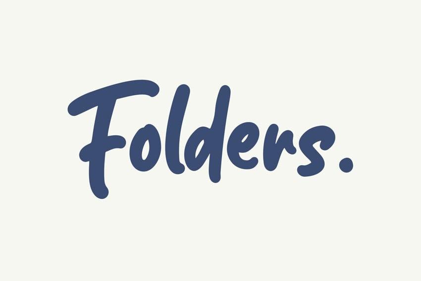 Folders Font