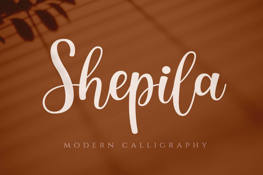 Shepila - Pretty Script Font