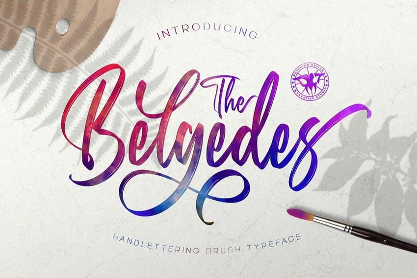 Belgedes - Hand Lettered Font