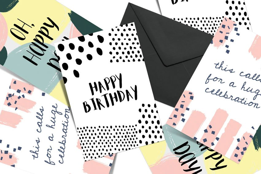 Affinity Designer Greeting Card Template Set